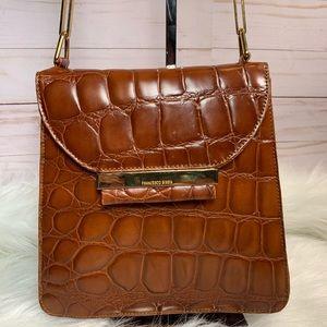 Francesco Biasia Mikonis Croc Embossed Leather Bag